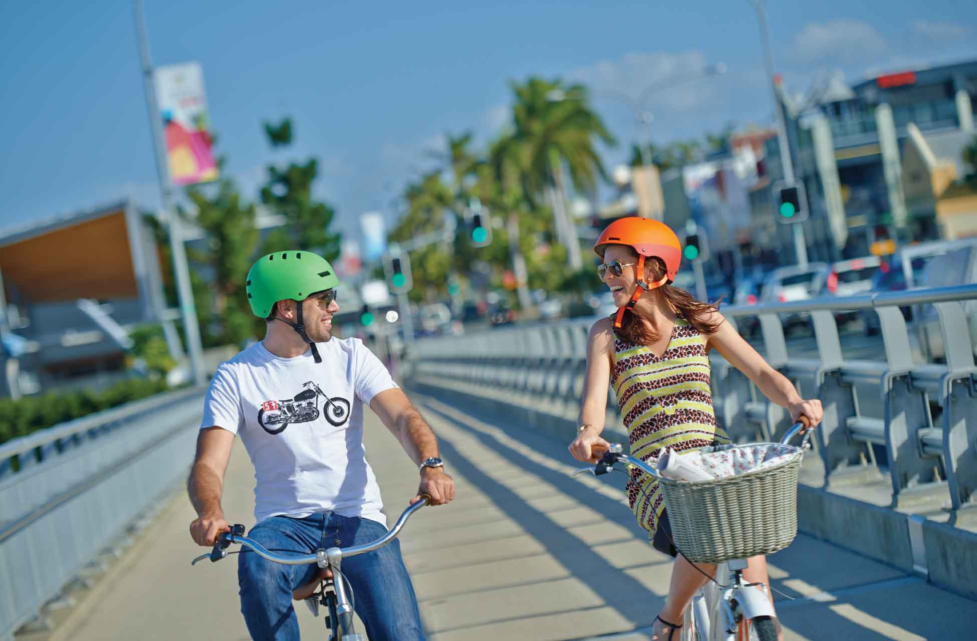 Ebike Hire Brisbane - Happy Cycling Couple