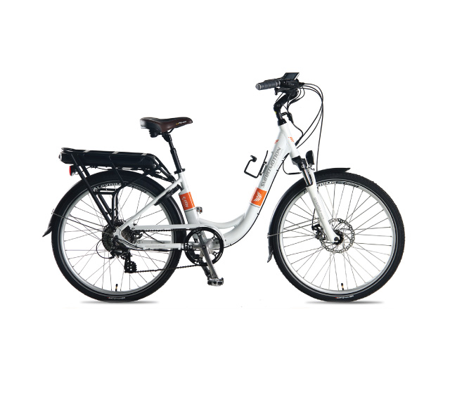 Ebike Hire Brisbane - Smartmotion eCity Electric Bike - White