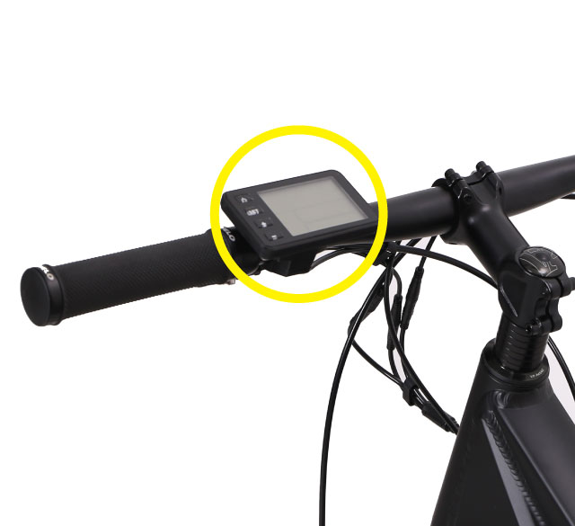 turn-on-ebike-control-display-unit-on-handlebar